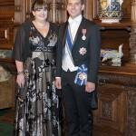 Prințul cu sora sa, la Castelul  Peles, sept. 2014