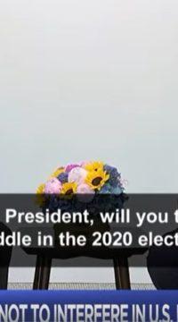 1 O jurnalistă cere lui Trump să ceară lui Putin neamestecul în alegerile din SUA