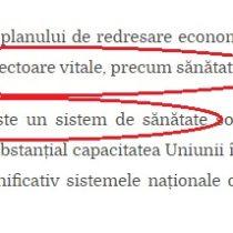 """Iohannis omul care a luat bani de la Sănătate ca să dea la Serviciile secrete s'a trezit la UE că 'Sănătatea este vitală' """""""