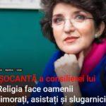 Consilierul principal al lui Klaus Iohannis, Sandra Pralong zice că religia face oamenii obedienți și asistați NASUL TV