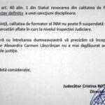 """Din 2018 procurorul Lăncrănjan nu a mai """"format"""" auditori la Institutul de Magistratură"""