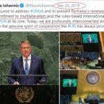 """Iohannis vorbind vorbe """"multilateral"""" la ONU Două luni mai tîrziu izbucnea Coronavirus și ONU nu reușea să anunțe România despre pericol"""