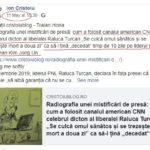 """Pe 11 Mai 2020 o zi înainte de """"parteneriatul' lu Antena3 ' cristoiublog îi descrie lui Mihai Gâdea """"partenerul"""" CNN Cam dă cu FakeNews în jur"""