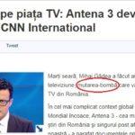 """Pe 12 mai Gâdea anunță """"mutare bombă"""" fără geniști """"Parteneriat"""" cu un CNN în declin puternic de audiență în SUA"""