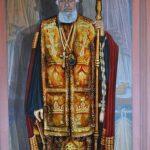 anania Mitropolitul Bartolomeu Anania pictat în noua biserică ortodoxă din Păniceni, județul Cluj