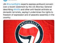 Națiunile Unite susține un grup al urii de extrema stângă numit Antifa