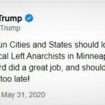 """Trump amintește de necesitatea stopării """"Anarhiștilor de stânga"""" pînă nu e prea târziu"""