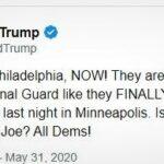 """Trump atrage atenția că sunt jefuite magazine la """"proteste"""" și îi menționează pe """"somnoroșii"""" Partidului Democrat"""