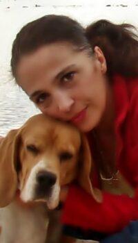 Anca Popescu și câinele preferat