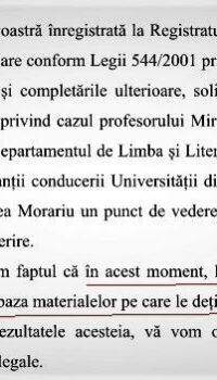 Raspunsul Universității Oradea către cristoiublog