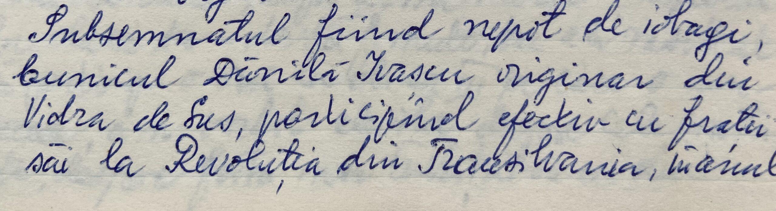 din caietul bunicului