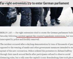 """În presa semi socialistă din Vest precum AP dacă te opui purtării măștii ești deja """"extrema dreaptă"""""""