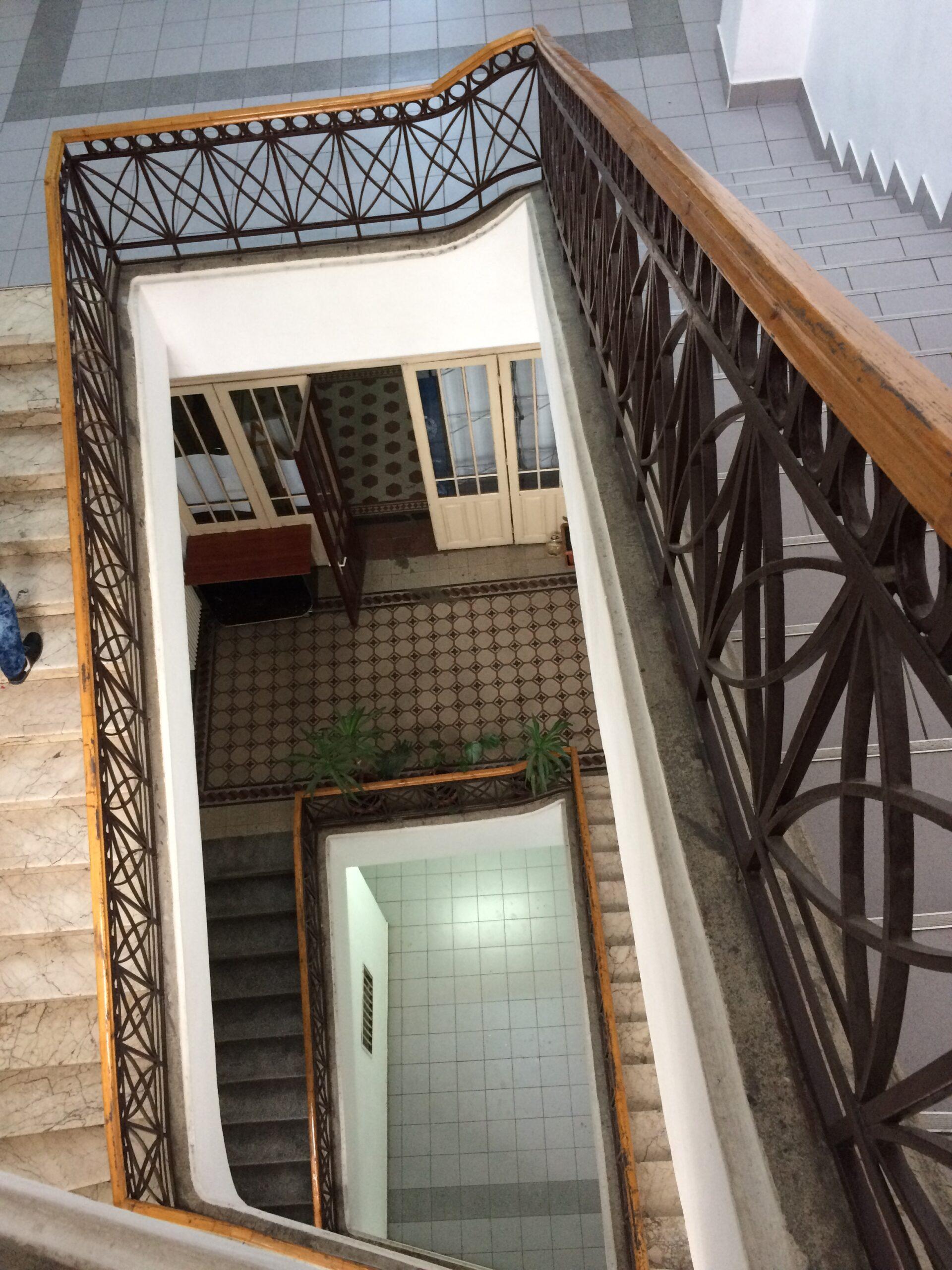 Liceul Mihai Viteazul scările