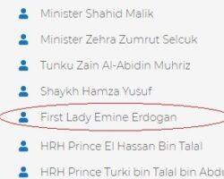 Ponta coleg cu familia Erdogan la un Forum caritabil pentru lumea musulmană