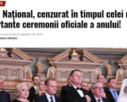 Plângerea penală împotriva celor care au cenzurat Imnul național al României a fost îngropată sub preș