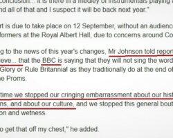 Premierul britanic critică acid decizia celor de la BBC