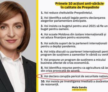 """Maia Sandu """"ia urma"""" Statului Paralel din România"""