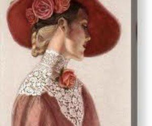 Pălărie veche cu flori
