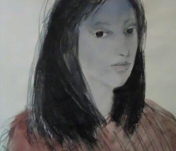 Resemnare acuarela Sabina Ivascu 1968