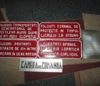 Tablite de protectia muncii