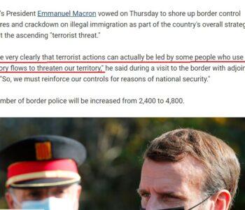 """în 2020 Macron îi bate obrazul lui Merkel 'Valurile de migrație pot fi folosite de teroriști""""'"""