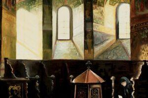 La Mănăstirea Sucevița, lucrare semnată inconfundabil Tudor Gafton