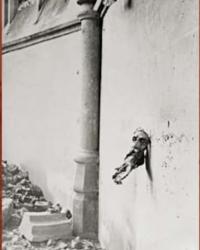 Explozia unui obuz a proiectat capul lui Iisus in zidul bisericii