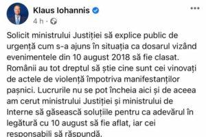 Klaus Iohannis ministrul justitiei
