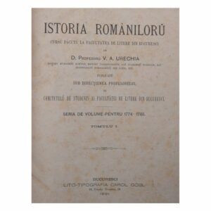 VAUrechia Istoria Romaniloru_1891
