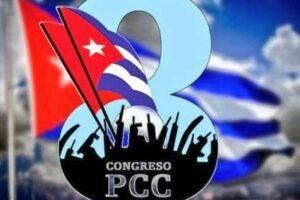 Logo-ul celui de-al optulea congres al Partidului Comunist Cubanez, aprilie 2021.   Foto: Twitter/ @SalazarGuardado