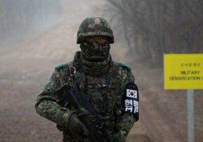 militar sud-coreean linie de demarcatie