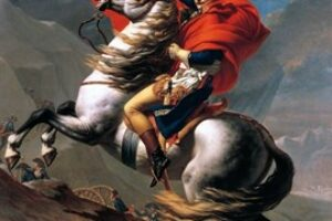 David – Napoléon traversand Alpii