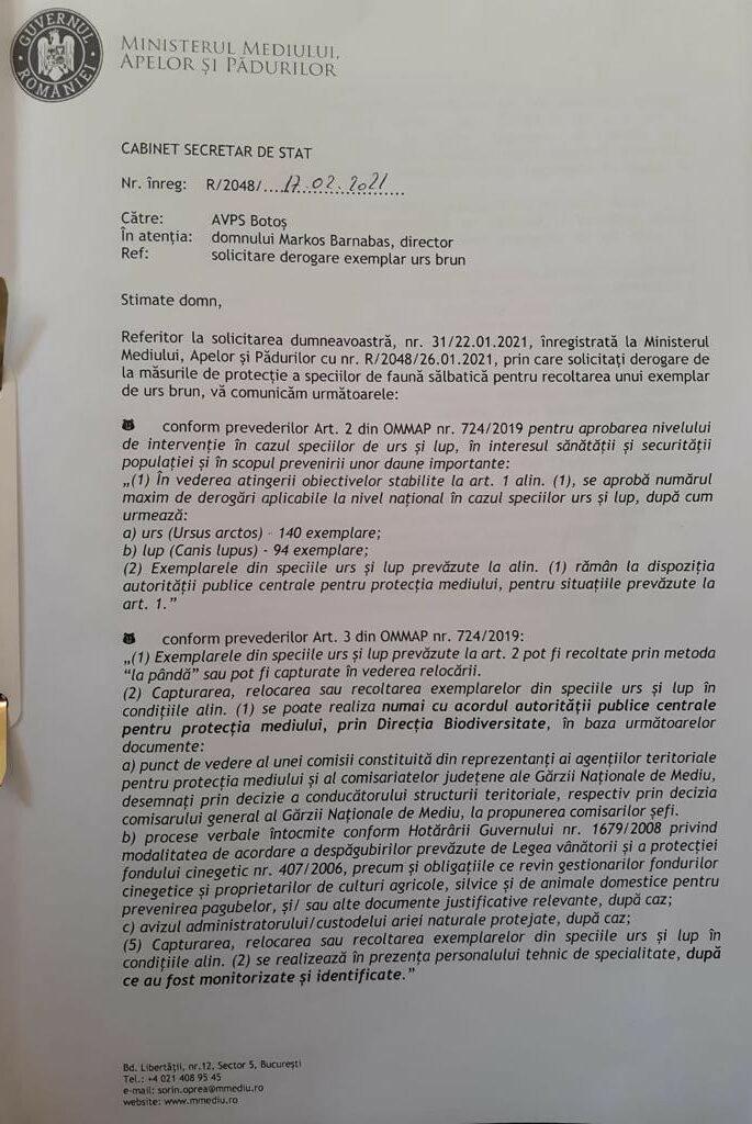 adresa ministerul mediului pag 1