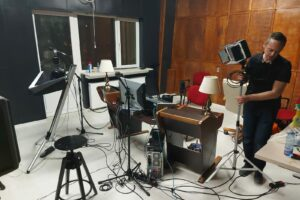 În studio