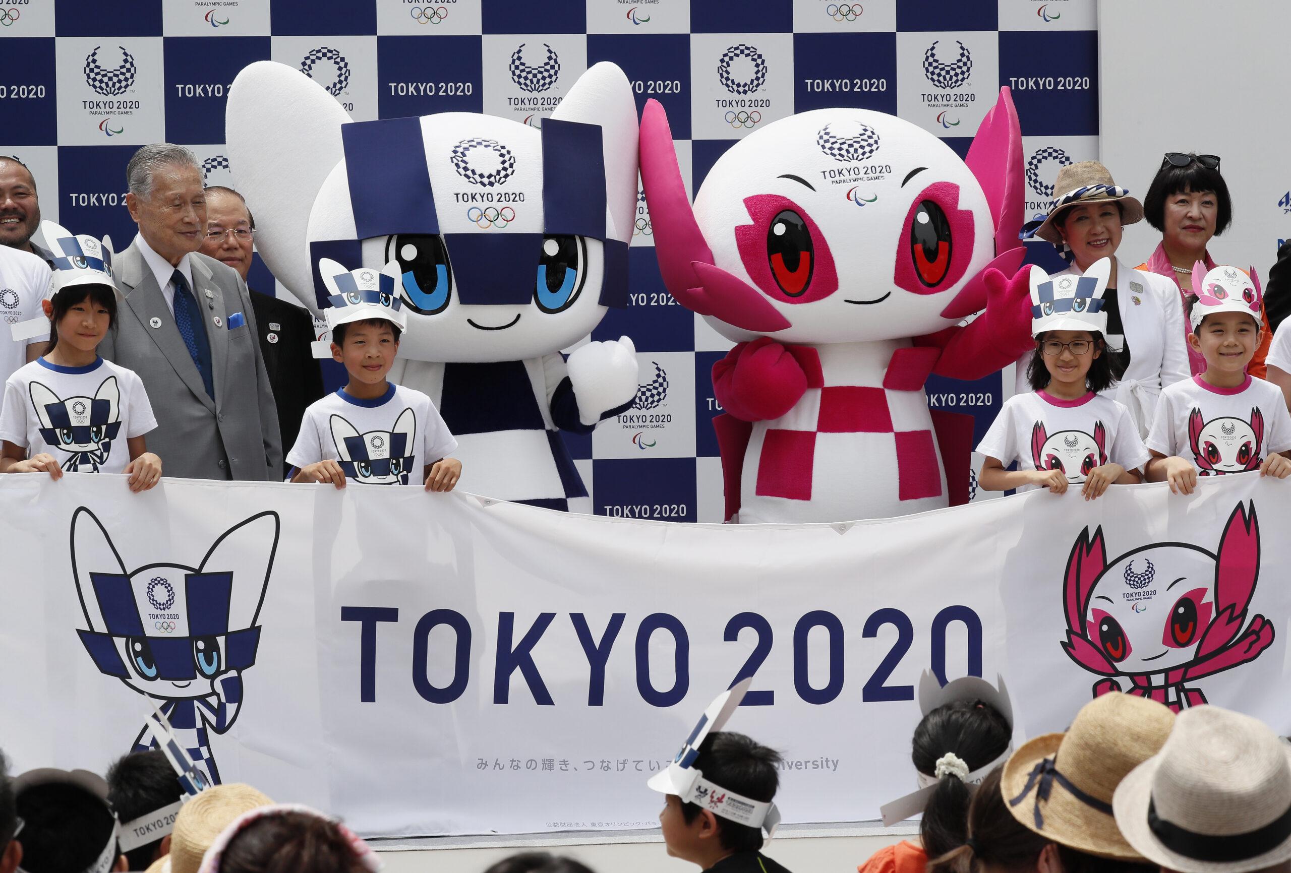 Tokyo 2020 Olympics mascot Miraitowa and Paralympics mascot Someity debut